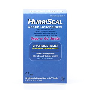 HurriSeal Snap n go Dentin Desensitizer Swabs/Tupfer, 36 Stück