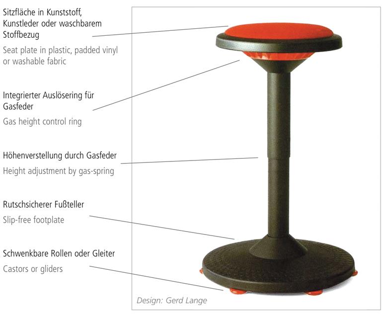 alpha hocker in verschiedenen ausf hrungen auf 6 gleitern ideal f r labor praxis b ro. Black Bedroom Furniture Sets. Home Design Ideas